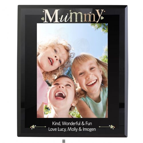 Personalised Mummy Black Glass 5x7 Frame